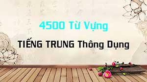 4500 Từ Vựng Tiếng Trung Thông Dụng Audio